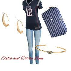 Perfect look for your Sunday. #sdjoy #stelladotstyle #football #patriots