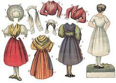 175 Best French Paper Dolls, Arielle Gabriel, Paper Doll
