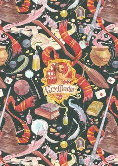 Gryffindor pattern by CoalRye on DeviantArt
