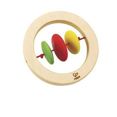 Twirler Rattle  Shake up baby's playtime with a colorful wooden rattle, created especially for grabbing hands, teething gums, and curious minds.  Age 6 Months+