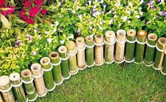 DIY Garden Landscaping Projects Diy Bamboo Garden Bamboo Decoration Garden Fencing Ideas For Japanese Diy Fence Bamboo Art, Bamboo Crafts, Bamboo Ideas, Bamboo Garden Ideas, Painted Bamboo, Bamboo Fencing Ideas, Bamboo Landscape, Landscape Design, Amazing Gardens