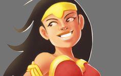 Wonderwoman fanart, Olga Brigida on ArtStation at https://www.artstation.com/artwork/XXaoY