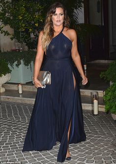 Khloe Kardashian goes bra-less in a sheer dress to Montana's 30th birthday bash in LA | Daily Mail Online