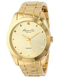 Kenneth Cole New York Women's KC4949 Rock Out Yellow Gold Dial Diamond Dial Bracelet Watch * Want additional info? Click on the image.