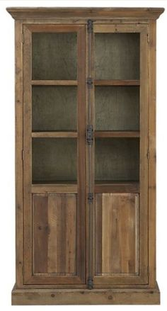rustic cabinet. love it! Might be a project for BleueRenovation in the future!!
