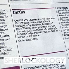 Lovely news in the Telegraph today! Congratulations to John and Mary!