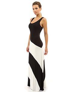 PattyBoutik Women's Racerback Striped Maxi Dress (Black and Ivory White S) PattyBoutik http://www.amazon.com/dp/B00XKJ6ZR0/ref=cm_sw_r_pi_dp_B5Iowb1PW65PR