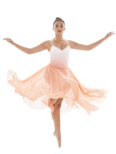 Long flowy skirt with leotard. Gorgeous dress. Perfect for a lyrical dance costume. Can be any color!  Ombre Prism. Ballet. Lyrical. Contemporary.