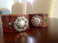 Cool tooled leather cuffs!