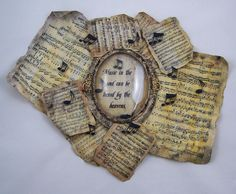 Faux parchment frame by Tracy Alden of Art Resurrected, paper crafting supplies from Globecraft & Piccolo.