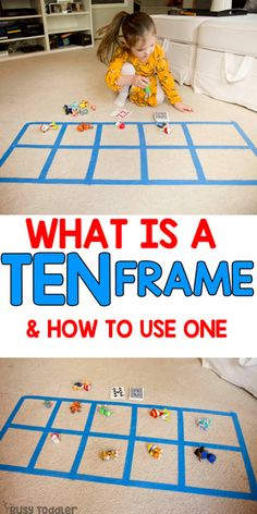 Ten Frame: What it is and Why it Matters Ten Frame Preschool Math Activity: preschool activity; math activity for preschoolers; quick and easy learning activity from Busy Toddler Ten Frame Activities, Preschool Learning Activities, Toddler Activities, Kids Learning, Number Games Preschool, Math Games For Preschoolers, Toddler Preschool, Number Sense Kindergarten, Kindergarten Math Activities