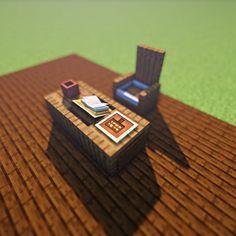 Credi Desk Siga M … - Minecraft World 2020 Minecraft Kitchen Ideas, Art Minecraft, Cute Minecraft Houses, Minecraft Castle, Amazing Minecraft, Minecraft House Designs, Minecraft Decorations, Minecraft Blueprints, Minecraft Crafts