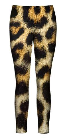 leopard Fur Leggings