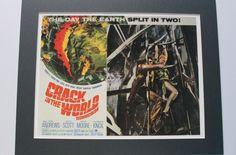 CRACK in the WORLD 1964 - 1960s Film Poster Print B-Movie Movies Movie Poster Science Fiction Film Outer Space Fantasy Lobby Cards Sci Fi by VintagePrintageArt on Etsy