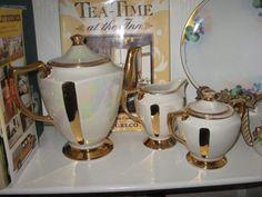 Valentine Gift.  Vintage Lustreware Tea Set.  Mojeart at Etsy.com