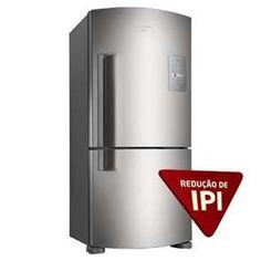 Refrigerador Brastemp Frost Free Duplex Ative! Inverse Maxi BRE80 com Freezer Invertido e Controle Eletrônico - 573L - Inox