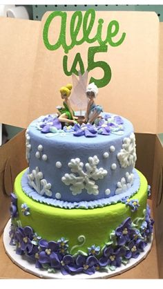 Allie's Tinkerbell and Periwinkle cake made by Mary McGuire (Tupelo, Ms)