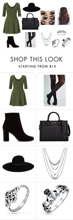 """""""Going shopping with my friends on an autumn Saturday"""" by sarapotter98 on Polyvore featuring Miss Selfridge, Yves Saint Laurent, Karl Lagerfeld, Maison Michel, Lucky Brand, Bling Jewelry, outfit, ootd, autumn and polyvorefashion"""
