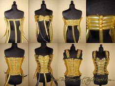 Step by step of how to make a balloon dress. The black balloon interweaving is the front...BalloonHQ Columns - Marie Dadow