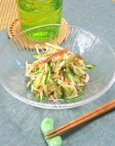 簡単和えるだけ初夏のおうちのみおつまみ!レモンで爽やか〜カニかまとキュウリと茗荷のサラダ。|レシピブログ