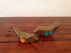 Pair of Decorative Polymer Clay Birds | CraftedByVickie - Novelty on ArtFire