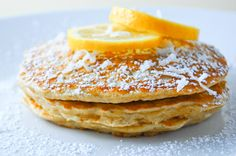 Meyer Lemon Coconut Pancakes