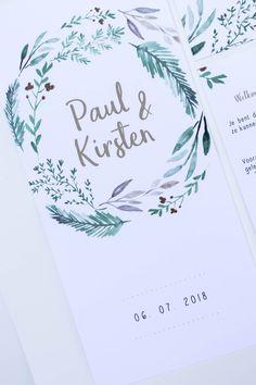 Trouwkaart Paul en K