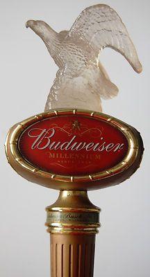 Vintage Budweiser Millennium Beer Tap Handle with the Budweiser Eagle atop ~Bud Bar Refrigerator, Homemade Beer, Beer Taps, How To Make Beer, Beer Brewing, Decorative Bells, Missouri, Bud Beer, Perfume Bottles