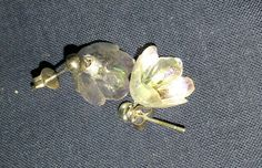 Delicate Crystal Bell Flowers on posts by PleinDesign on Etsy