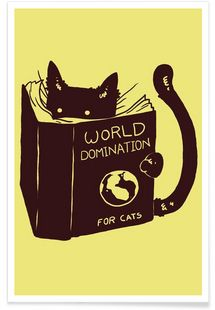 World Domination for Cats - Tobe Fonseca - Premium Poster