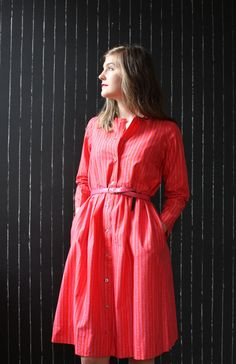 All Marimekko, all the time. Vintage Marimekko dress pink floral pattern with by NickeyVintage, Marimekko Dress, Marimekko Fabric, Style Retro, Vintage Style, 70s Fashion, Vintage Fashion, Boho Rock, Mommy Style, Simple Style