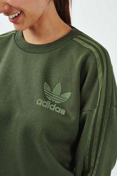 3 Stripe Crew Sweatshirt by Adidas Originals - Topshop Topshop Outfit, Crew  Sweatshirts, Jumpers 2425d07304