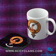 Guthrie Clan Crest Mug and Coaster
