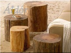 Side Table From Block Of Wood Or Tree Stump - Attractive Interior Supplement Home Design Decor, House Design, Interior Design, Home Decor, Natural Wood Furniture, Rustic Furniture, Into The Woods, Wood Blocks, Wood Projects