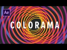 (5) The Colorama Combo - YouTube After Effect Tutorial, After Effects, Motion Design, Chicago Cubs Logo, Motion Graphics, Filmmaking, The Creator, Typography, Animation