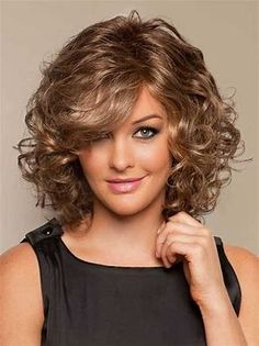 Image result for Short Layered Wavy Over 50