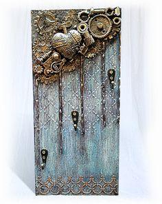 Ключница настенная открытая, вешалка для ключей, декор прихожей, ключница ручная работа, фото 1