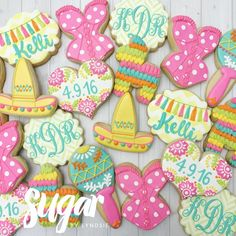 Cookies for a fiesta themed lingerie shower! - Sugar by Lyndsie