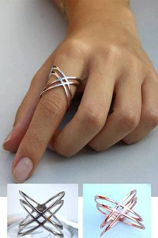 Criss Cross Ring | Happy Way Jewelry Etsy $39.00