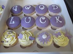 Since I am not in Portland to give you real cupcakes, I am sending you these virtual good luck cupcakes!