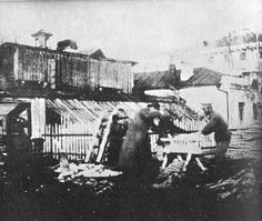 Nicholas sawing timber with Tatischev at Tobolsk - Photo from Sokolov Dossier in Russian not contained in French version.