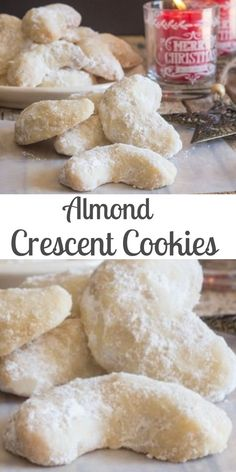 Crescent Cookies, almond, pecan or walnut these melt in your mouth Christmas Cookie Recipe are a must make.Almond Crescent Cookies, almond, pecan or walnut these melt in your mouth Christmas Cookie Recipe are a must make. Almond Meal Cookies, Pecan Cookies, Chocolate Cookies, Almond Chocolate, Walnut Cookies, Delicious Chocolate, Italian Cookie Recipes, Italian Cookies, Holiday Baking