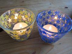Stardust decoupage candleholders. DIY available on www.eleanorsrevolt.com.