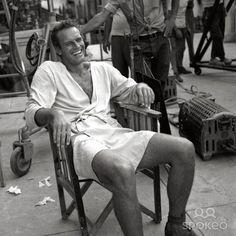 Charlton Heston on the Set of Ben Hur