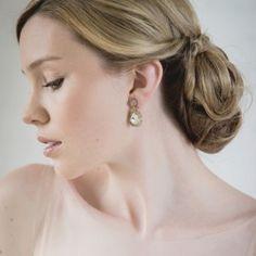 Crocheted crystal teardrop earrings | St Erasmus