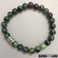 The unique harmony of the #Ruby in Zoisite stone imparts a lovely sense of #bliss - bringing through the feeling of the desire to live life with enthusiastic fervor.  #Beaded #Beads #Bijoux #Bracelet #Bracelets #Buddhist #Chakra #Charm #Crystals #Energy #gifts #gratitude #Handmade #Healing #Healing #Jewelry #Kundalini #Law Of Attraction #LOA #Love #Mala #Meditation #Mens #prayer #pulseiras #Reiki #Spiritual #Stacks #Stretch #Womens #Yoga #YogaBracelets
