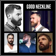 Trimming a beard neckline.