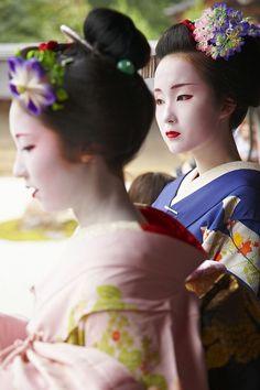 two maiko- Sayaka and Kyouka