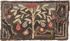 American Hooked Rug, Late 19th C., 19 1/2'' X 33 1