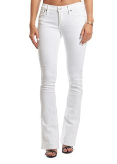 Citizens Of Humanity Emmanuelle Optic White Slim Bootcut - Jessimara Citizens Of Humanity, Distressed Jeans, White Jeans, Bring It On, Slim, Female, Clothing, Pants, Shopping